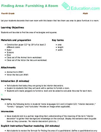 Lesson Plans For Fourth Grade Math