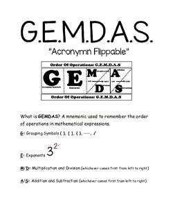 GEMDAS Flippable Information
