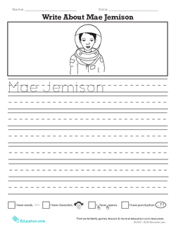 Write About Mae Jemison