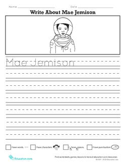 Write About Mae Jemison