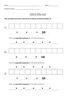 Give Me 10 Worksheet