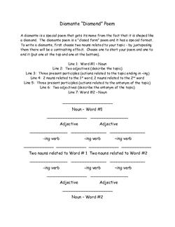 Halloween Diamante Poems Lesson Plan Education Com Lesson Plan