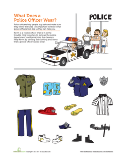 What Does the Police Officer Wear
