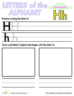 Alphabet Practice: H