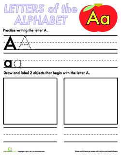 Alphabet Practice: A