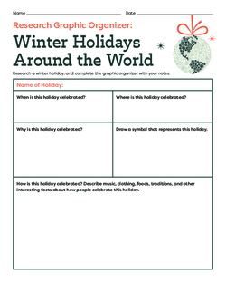 Holidays Around the World Research Graphic Organizer
