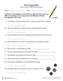 Homograph Clues