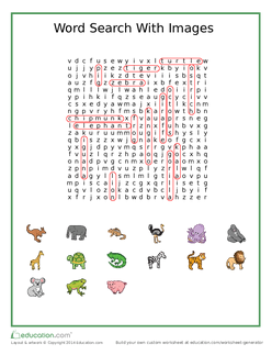 Animal Word Search With Images Answers
