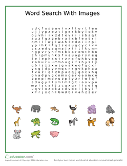 Animal Word Search With Images