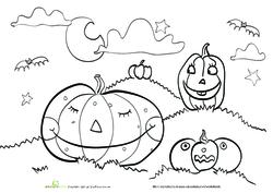 Halloween Pumpkin coloring sheet