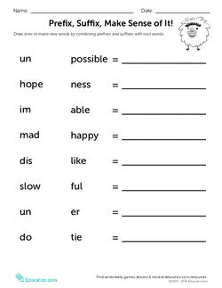 Prefix, Suffix, Make Sense of It!