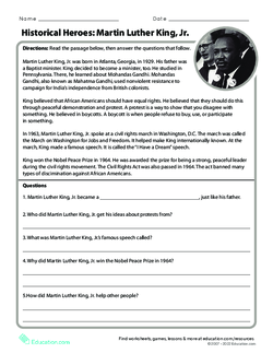 Martin Luther King, Jr: Historical Heroes