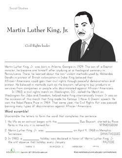 I Have A Dream Analyzing Speeches  Lesson Plan  Educationcom  Ask Your Students If They Know Who Martin Luther King Junior Is