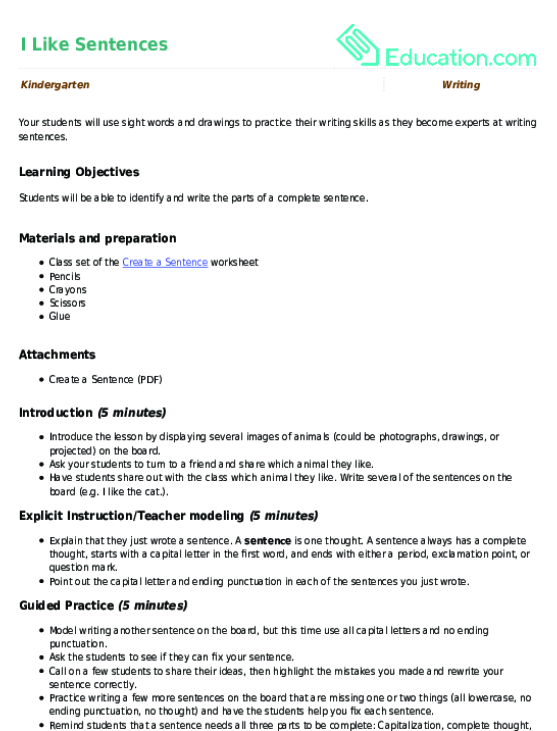 Kindergarten writing lesson plans education kindergarten writing lesson plans spiritdancerdesigns Image collections
