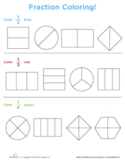 fractions of a whole  lesson plan  educationcom  lesson plan  explain to your class that today they will be learning about fractions  define a fraction as a part of a whole