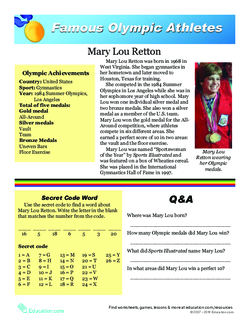 Famous Olympic Athletes: Mary Lou Retton