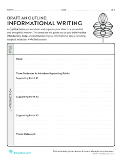 Draft an Outline: Informational Writing