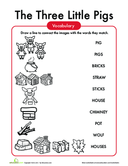 Three Little Pigs Vocabulary