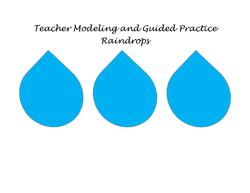 Teacher Modeling Raindrops