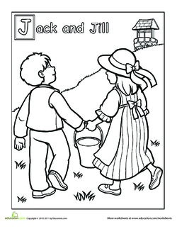 jack and jill  letters and pictures