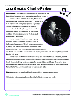 Jazz Greats: Charlie Parker