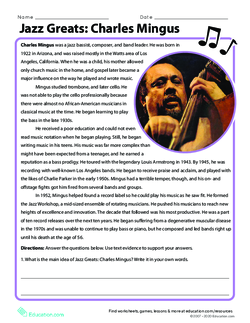 Jazz Greats: Charles Mingus