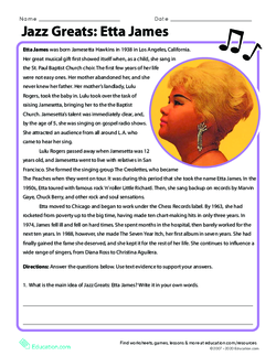 Jazz Greats: Etta James