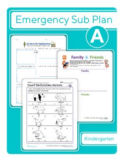 Kindergarten Sub Plan: Day 1