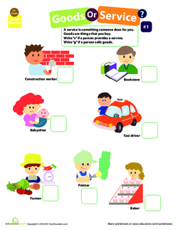 goods and services lesson for first grade proga info