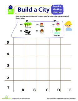 43+ Simple Map Worksheets For Kindergarten Pics
