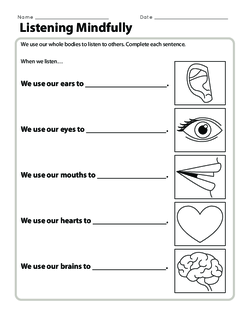 listening mindfully  lesson plan  education