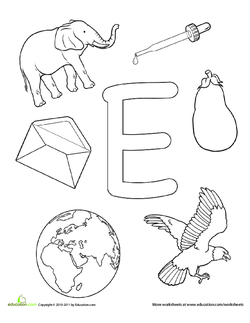 Tell The Students That Today They Will Be Learning About Letter E