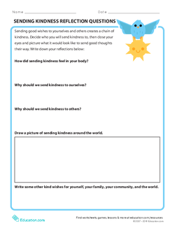 Sending Kindness Reflection Questions