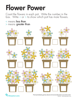 Comparing Flowers: Less Than and Greater Than