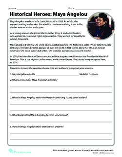 Historical Heroes: Maya Angelou