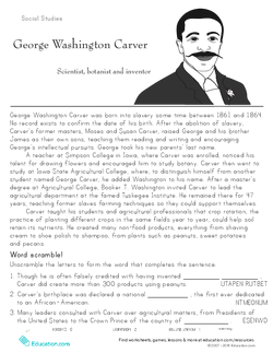 Historical Heroes: George Washington Carver