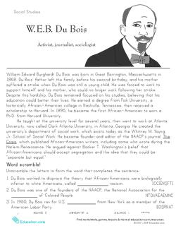 W.E.B. DuBois: Historical Heroes