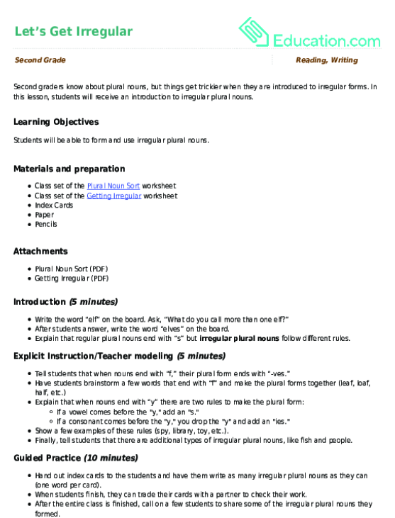 Change Nouns Ending In Y To Ies Worksheet Education