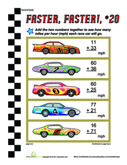 Faster, Faster: Two-Digit Addition #20