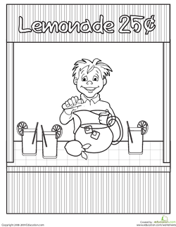 Color the Lemonade Stand