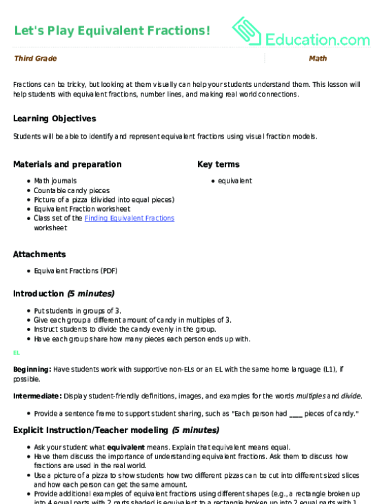 Let's Play Equivalent Fractions Lesson Plan Education. Let's Play Equivalent Fractions. Worksheet. Equivalent Fractions Pizza Worksheet At Mspartners.co