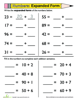 Let's Stretch the Values! Writing Two-Digit Numbers in Expanded Form ...