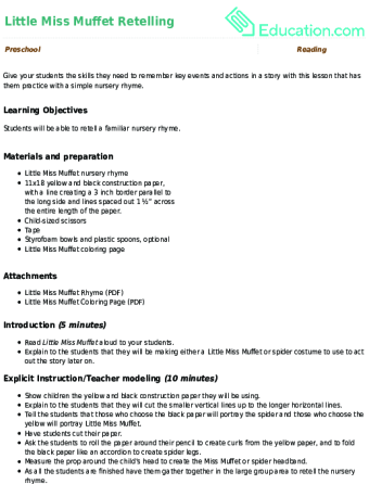 Free Little Miss Muffet Coloring Page, Download Free Clip Art ... | 446x340