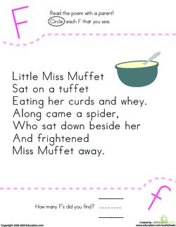 Little Miss Muffet Rhyme