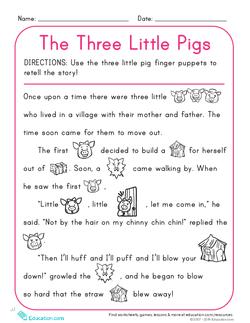 The Three Little Pigs Pdf