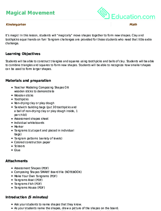 Solid Shapes Identifying 3 D Shapes Lesson Plan Education