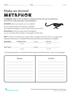 Make an Animal Metaphor