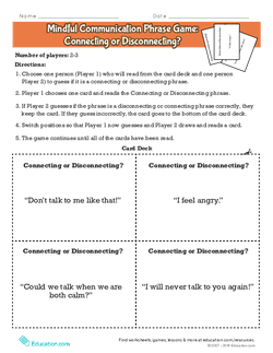 Mindful Communication Phrase Game: Connecting or Disconnecting?