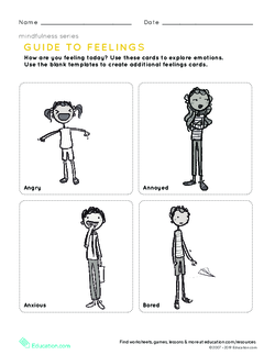 Mindfulness: Guide to Feelings Cards