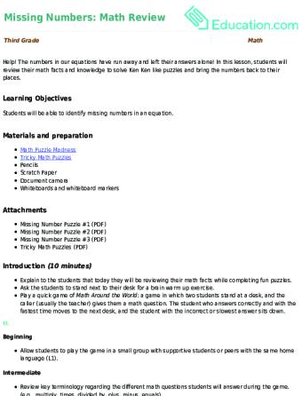 3rd Grade Math Lesson Plans Educationcom